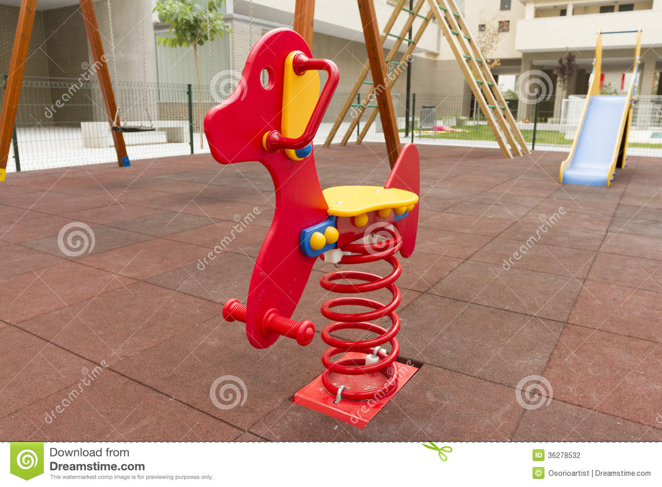 Red seesaw in playground toy stock photography image for Seesaw plans designs