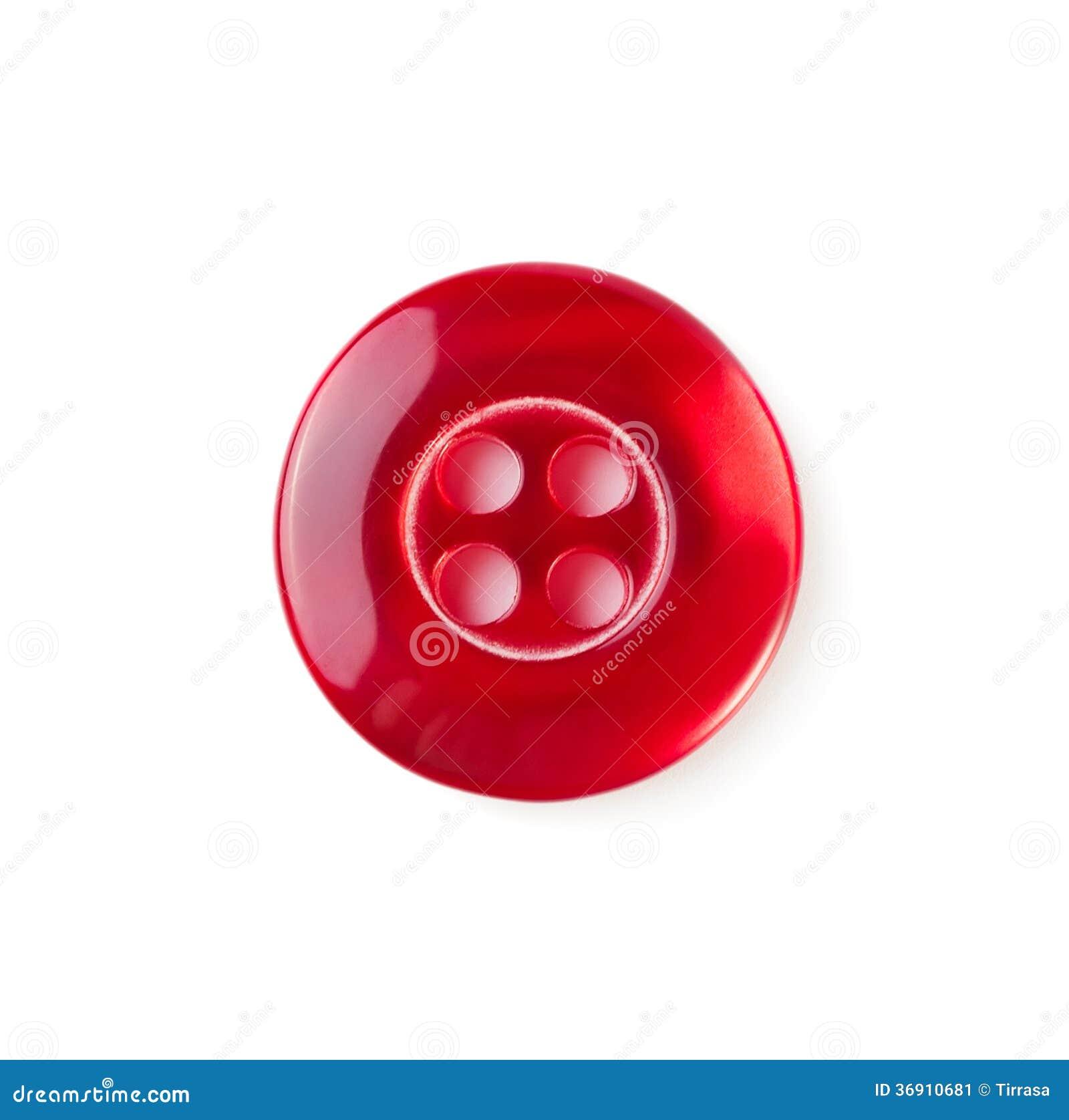 Modern dressmaker buttons - Red Sewing Button