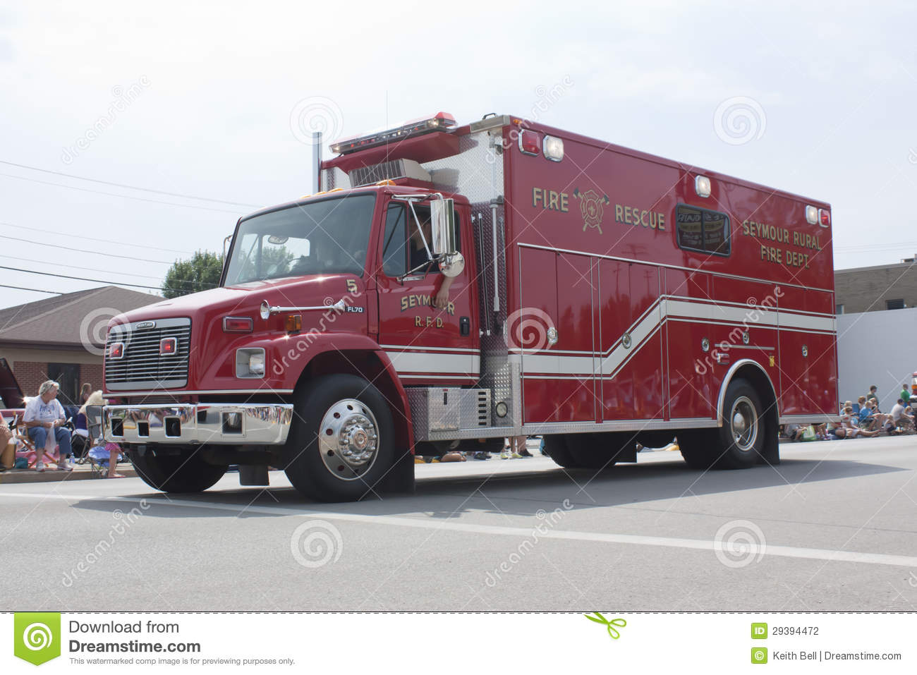 Red Seymour Rural Fire Rescue Department Truck