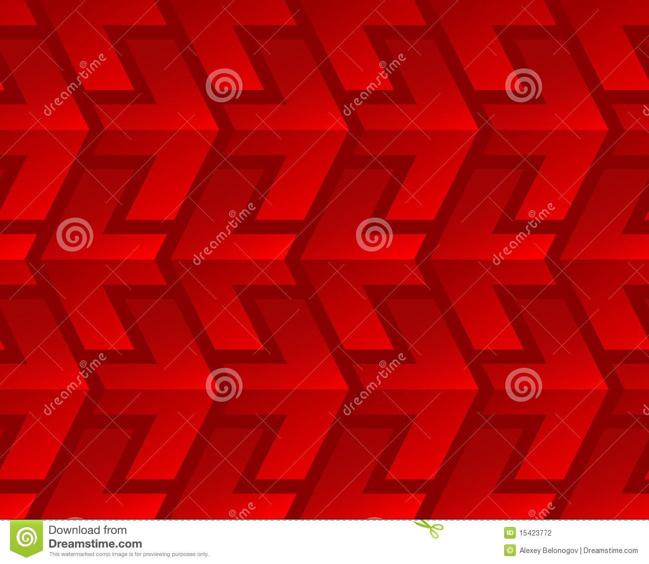 Red shiny arrows seamless pattern