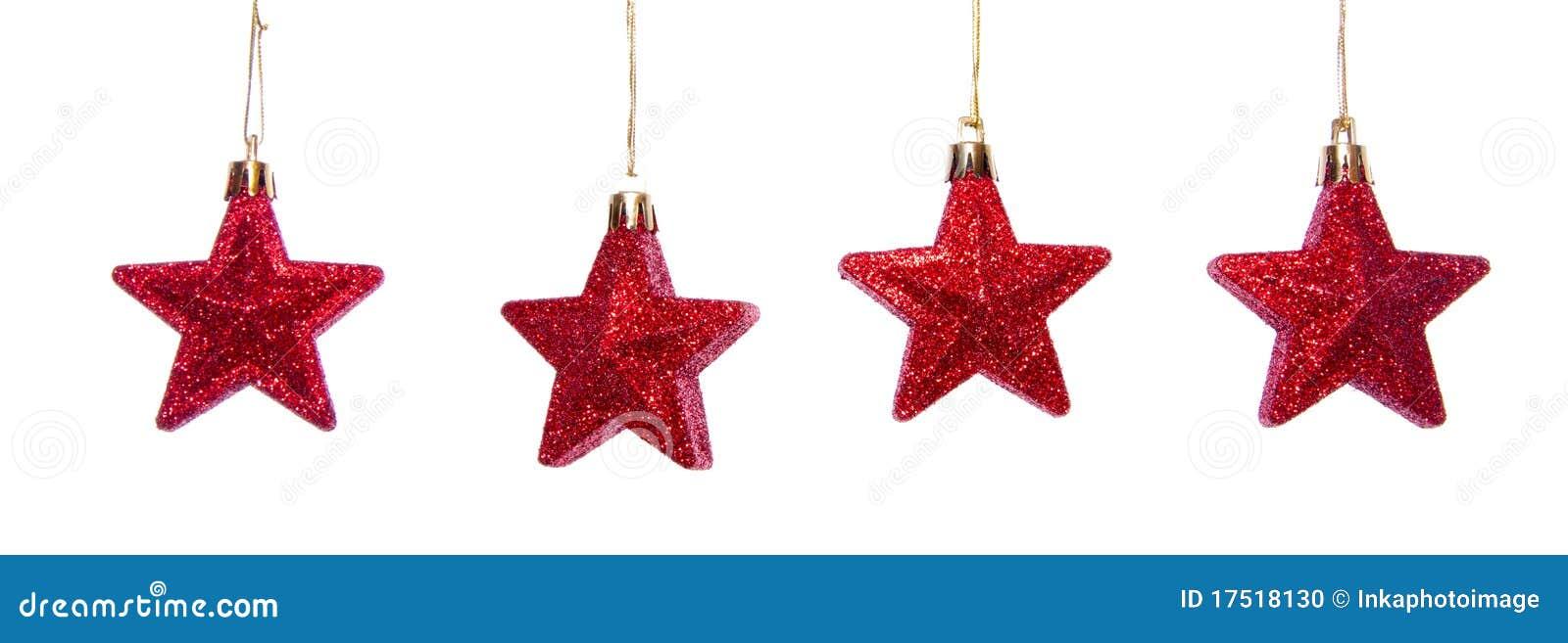 Red Shiny Stars Stock Photo Image 17518130