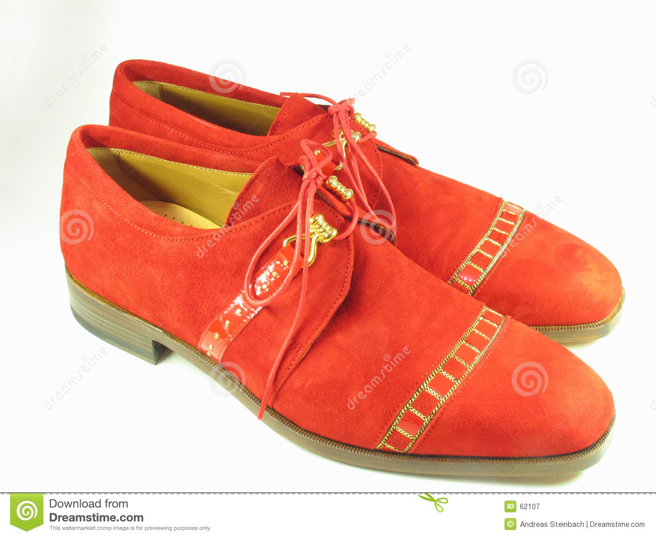 Red shoes suede