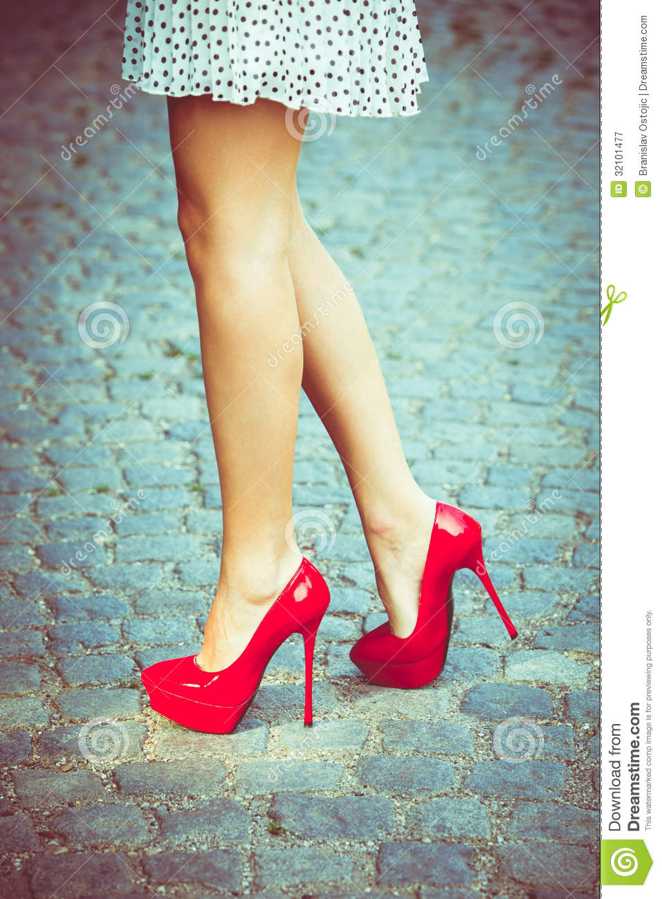 Red Shoes Royalty Free Stock Photography - Image: 32101477