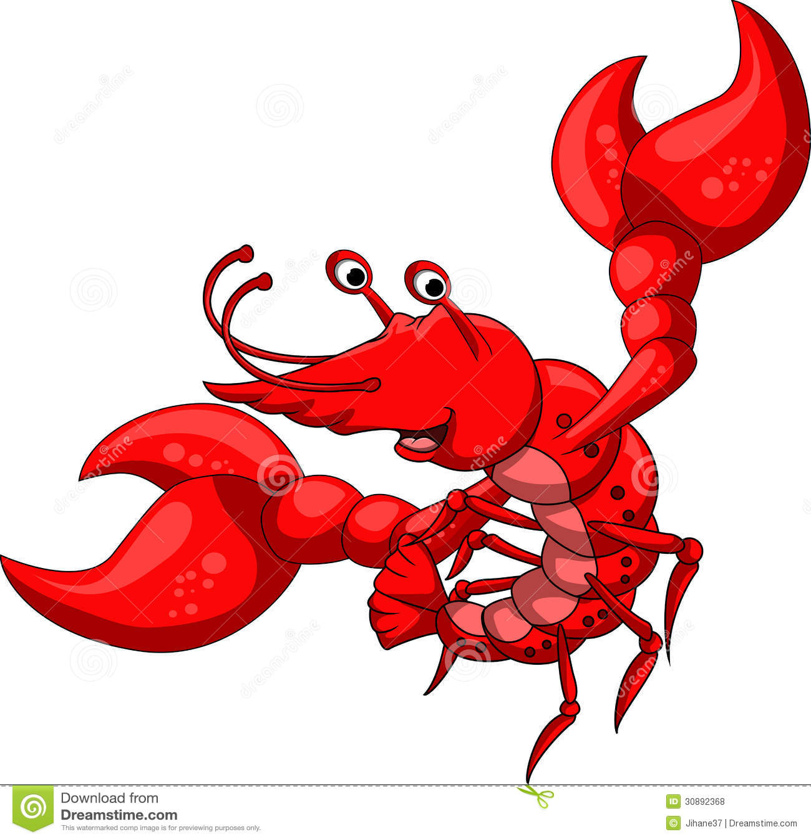 Red Shrimp Cartoon Royalty Free Stock Photos - Image: 30892368