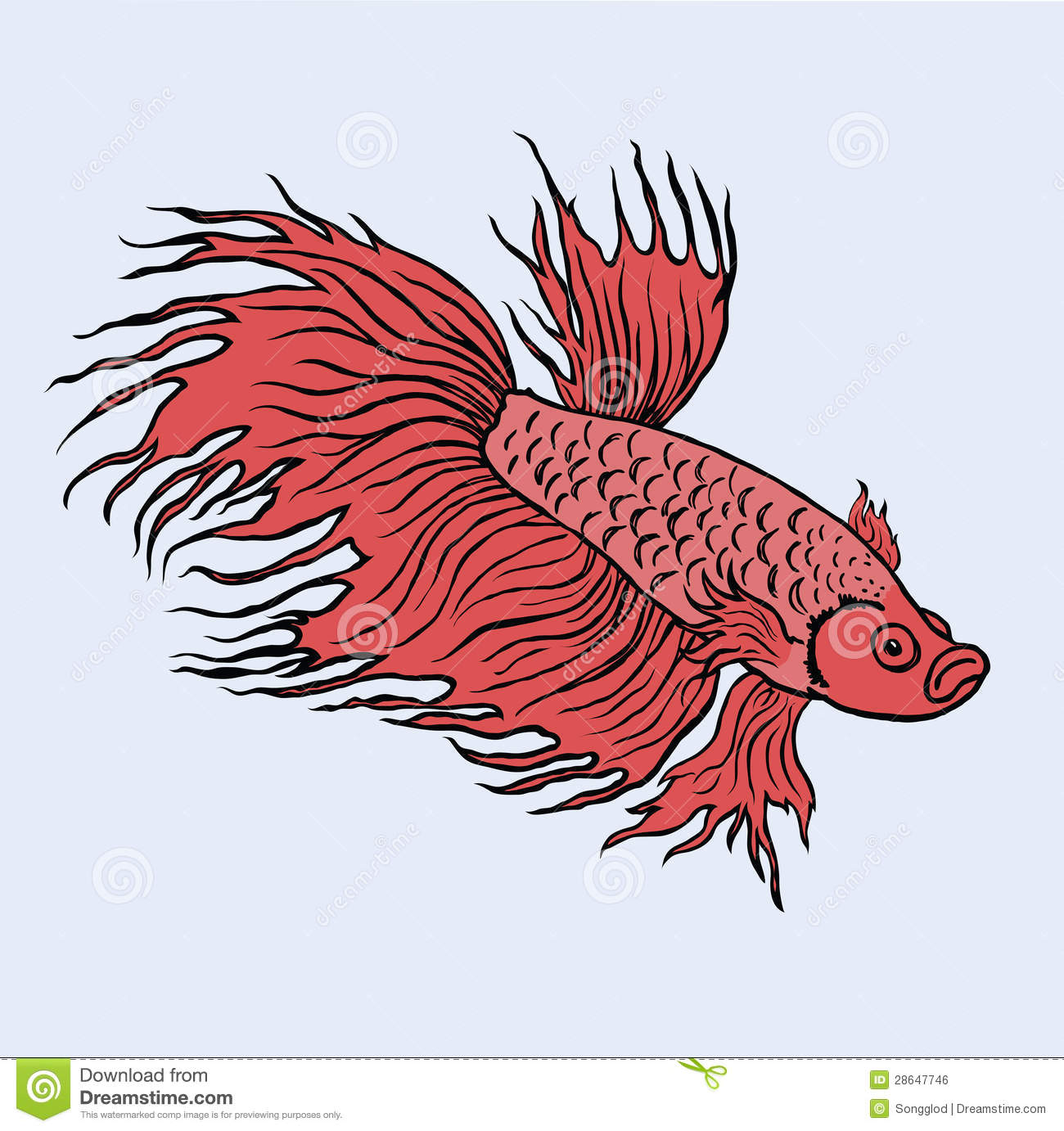 Blue Fish Red Fins Isolated Stock Image - Image of bright, malawi ...