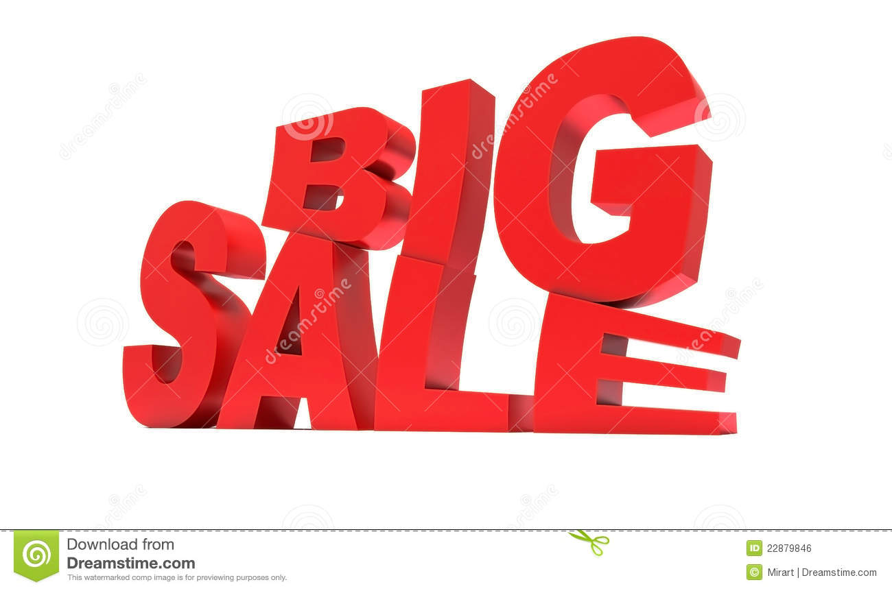 red sign big sale royalty free stock image