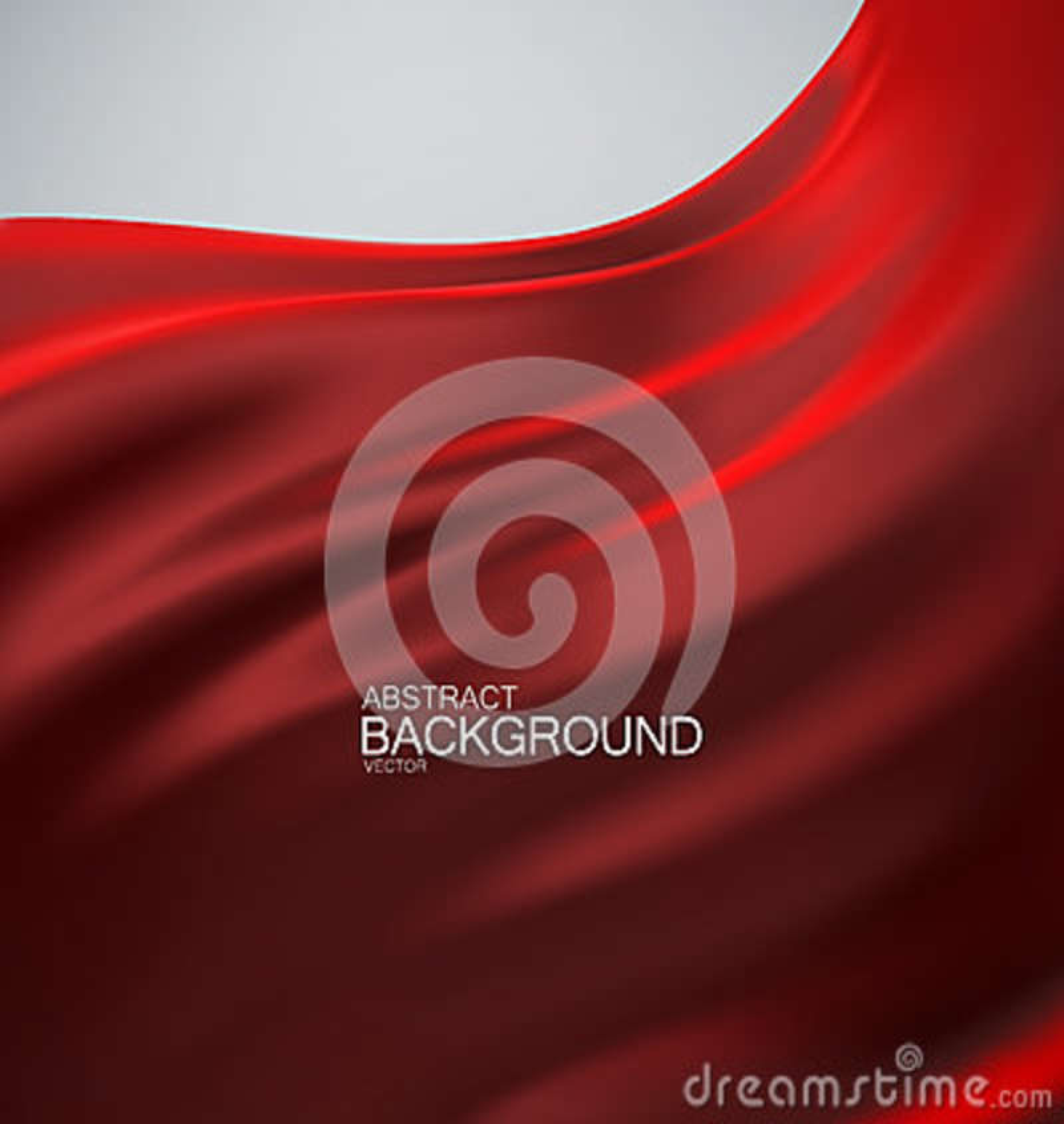 Red silk fabric.