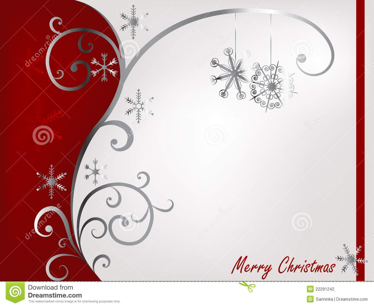 Red And Silver Christmas Stock Photography - Image: 22291242