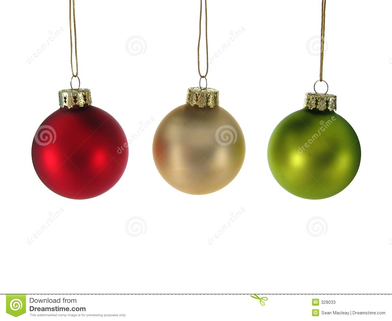 Red silver green christmas ornaments isolated stock for Red and green christmas decorations