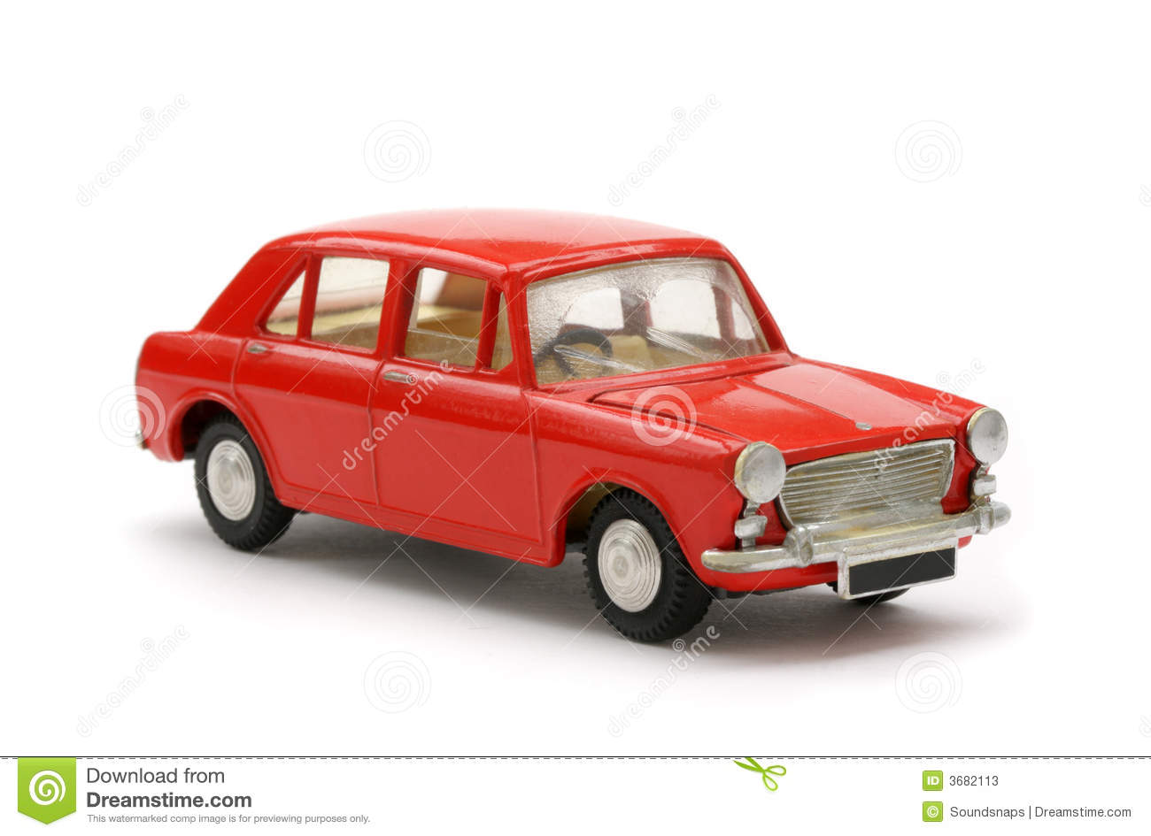 Toy Model Gallery : Red sixties british toy model car stock photos image