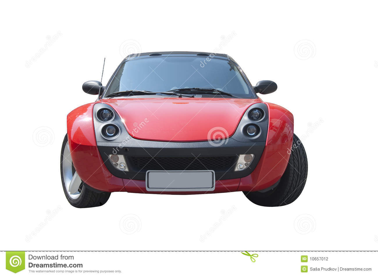 Red Smart Roadster sports car