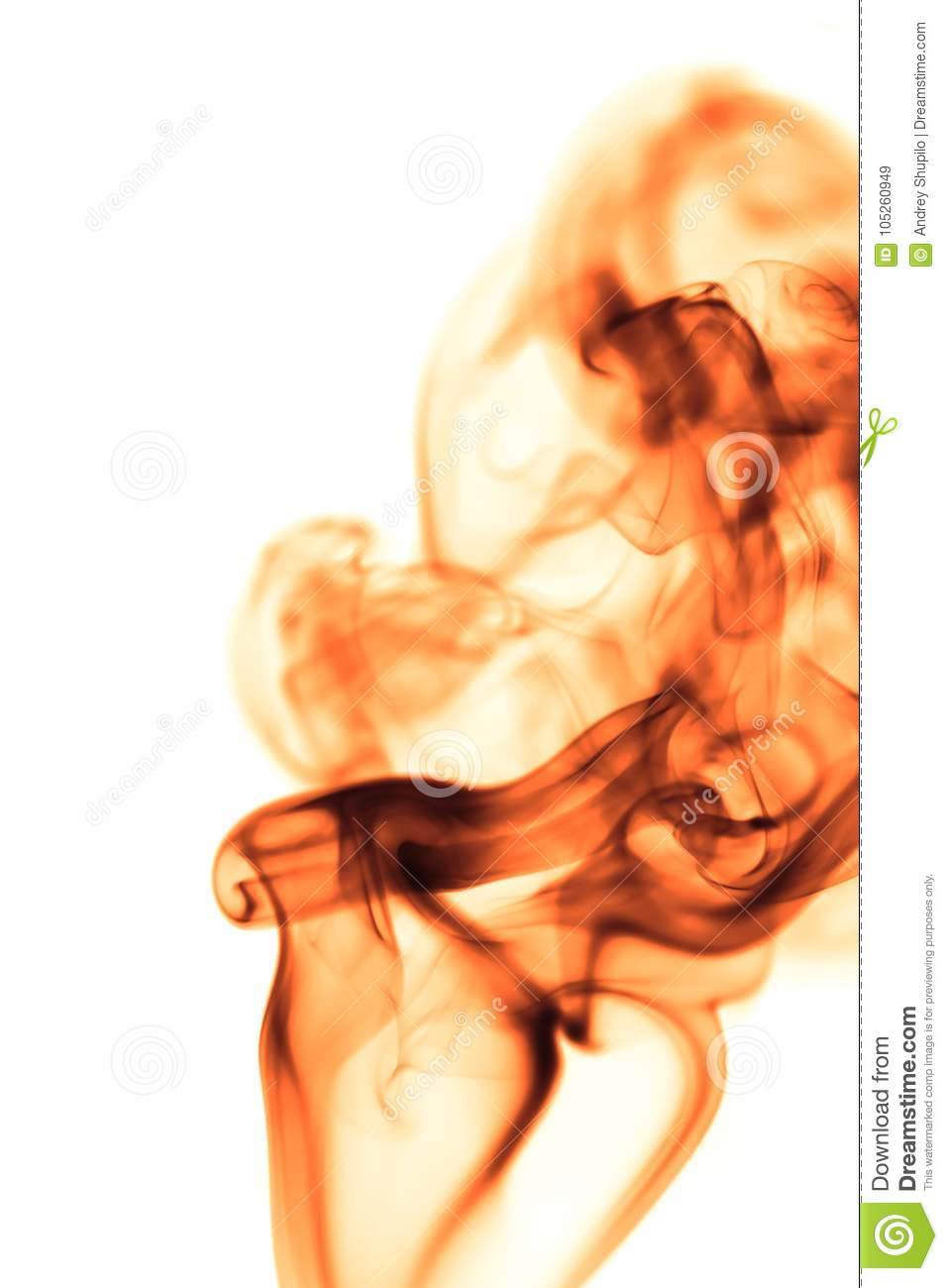 Red smoke on white background