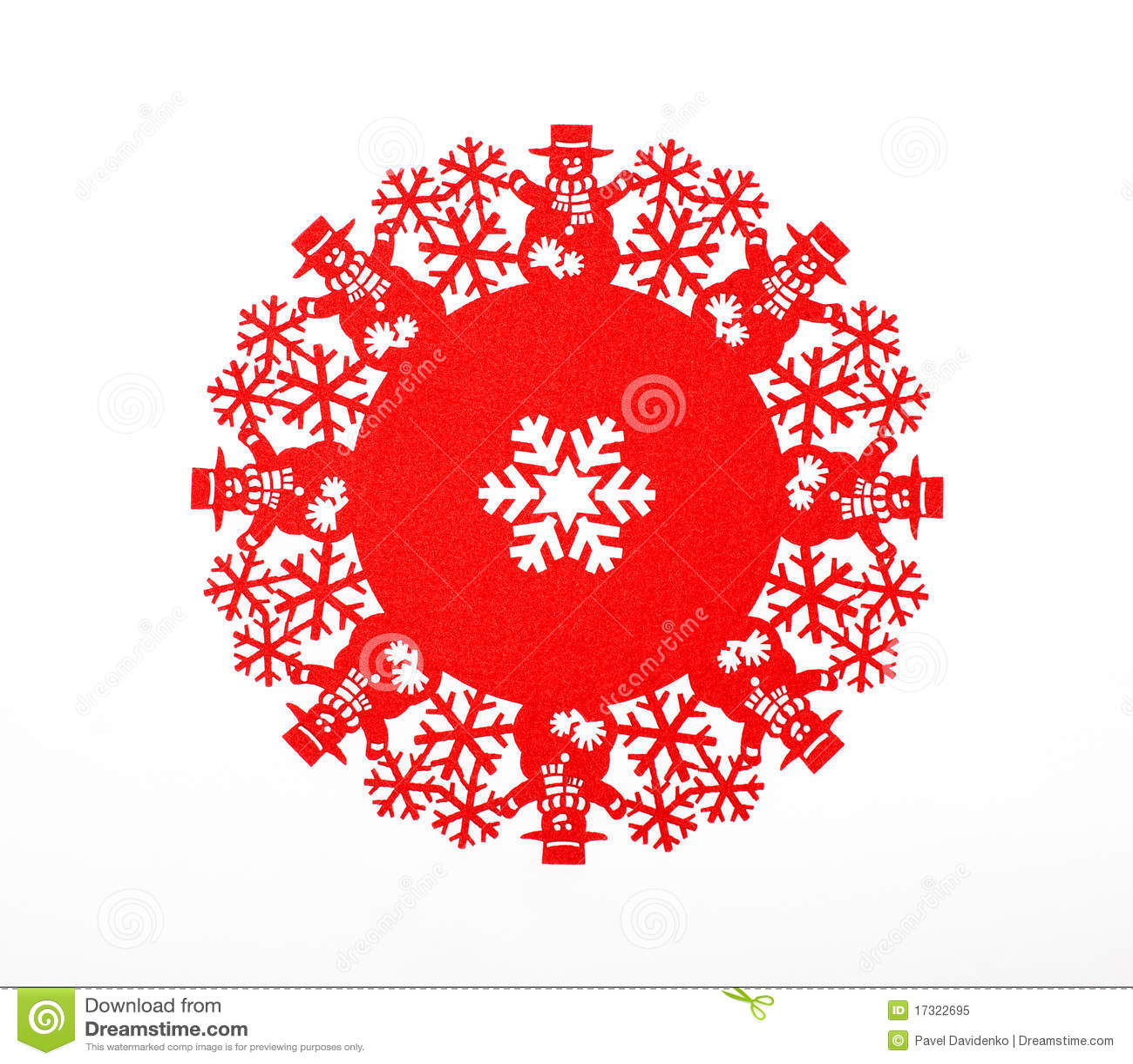 Red Snowflake Royalty Free Stock Photo - Image: 17322695