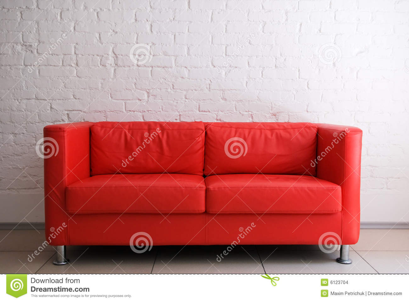 Red sofa and brick wall stock images image 6123704 for Brick red sectional sofa