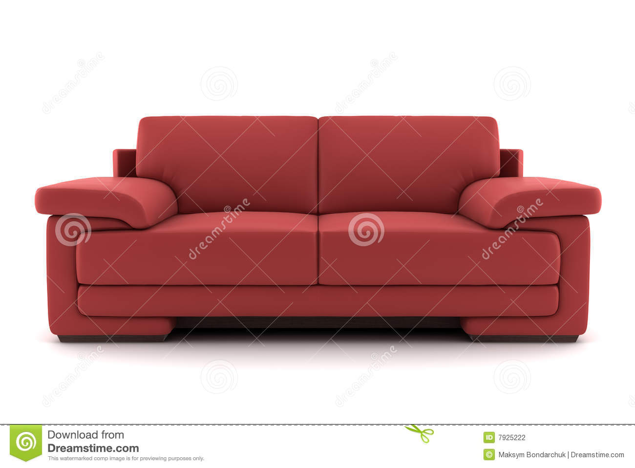Red sofa isolated on white stock photography image 7925222 for Red white sofa