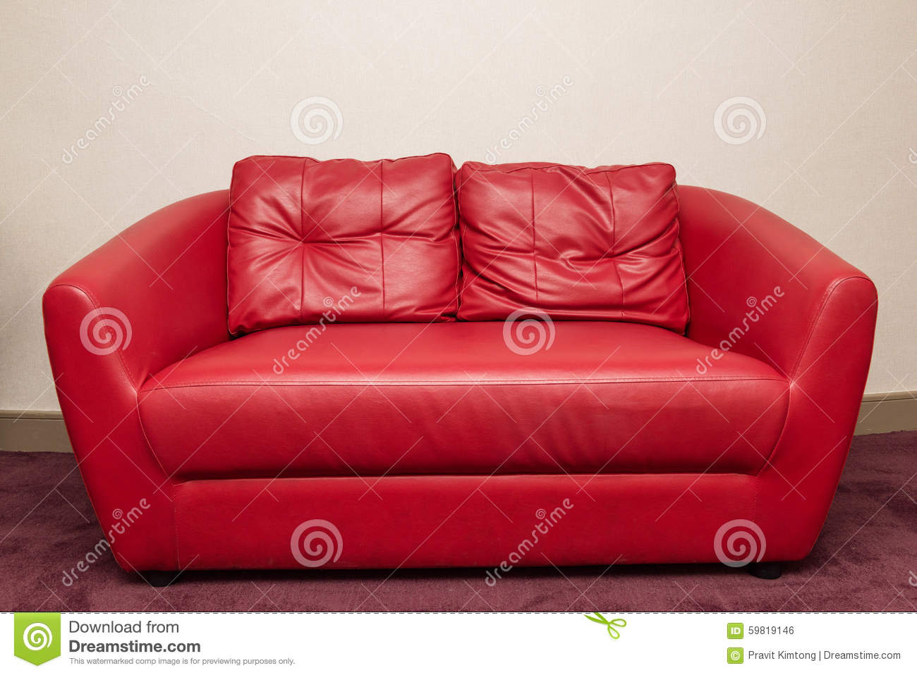 Royalty Free Stock Photo. Download Red Sofa ...