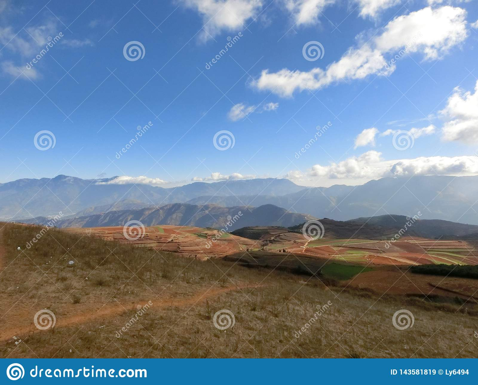 Red soil in YUNNAN, CHINA