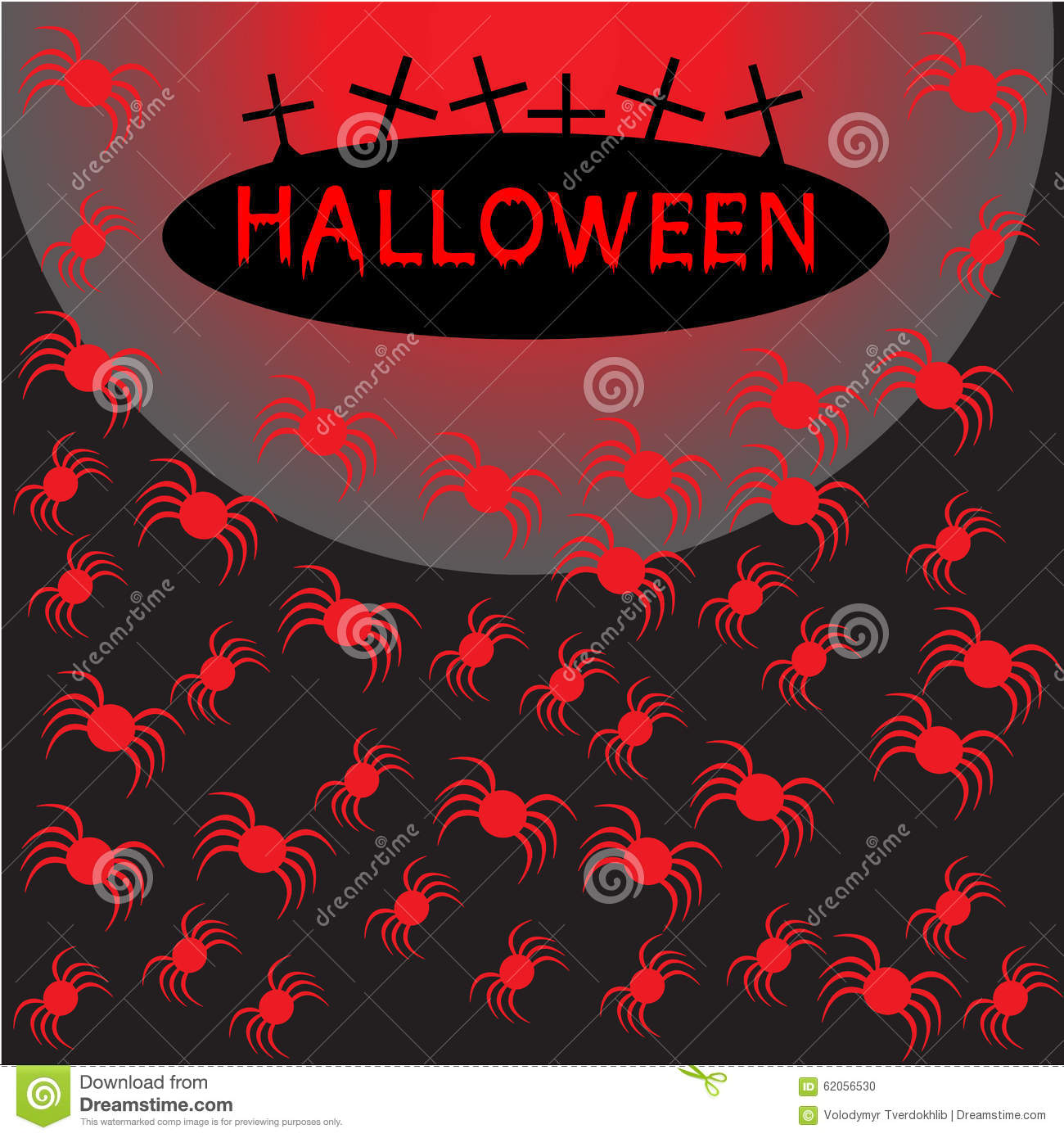 Red spiders cover stock illustration image 62056530 for Beautiful creative art