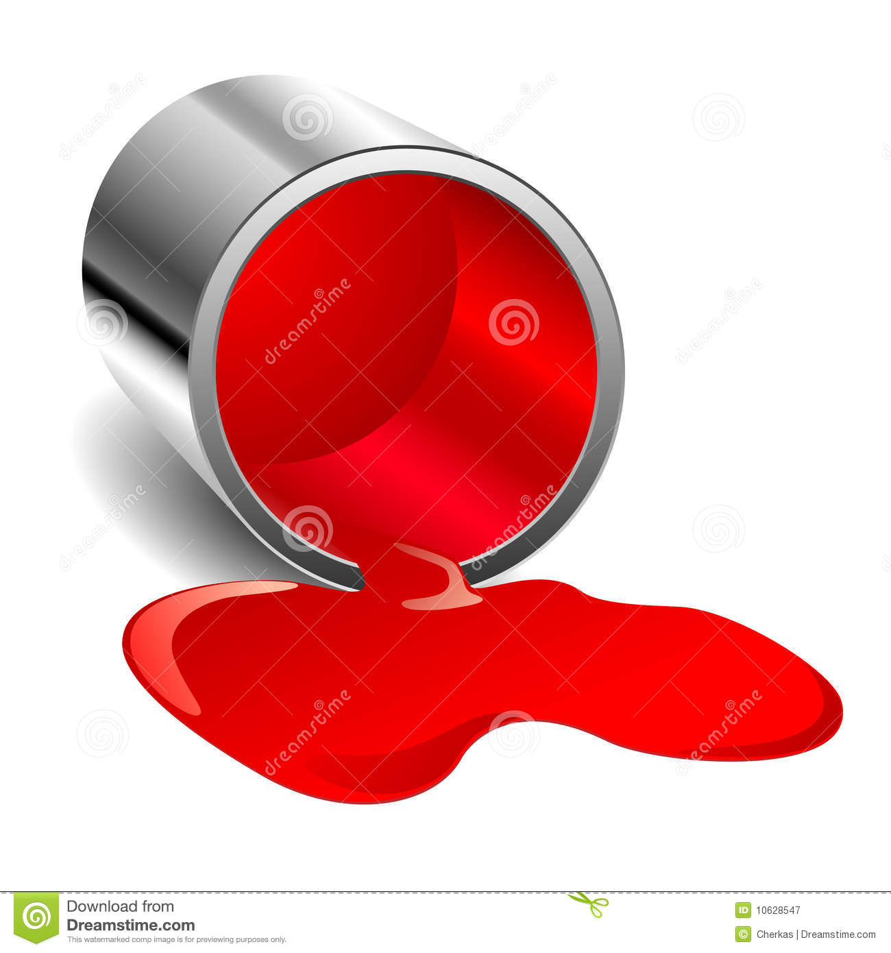 Red spilled paint royalty free stock photography image 10628547 - Maken rode verf ...