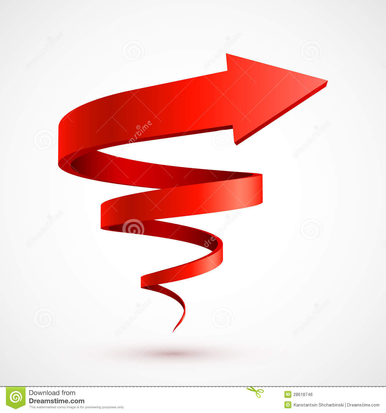 red spiral arrow 3d royalty free stock image image 28618746 swirl vector free swirl vector graphics