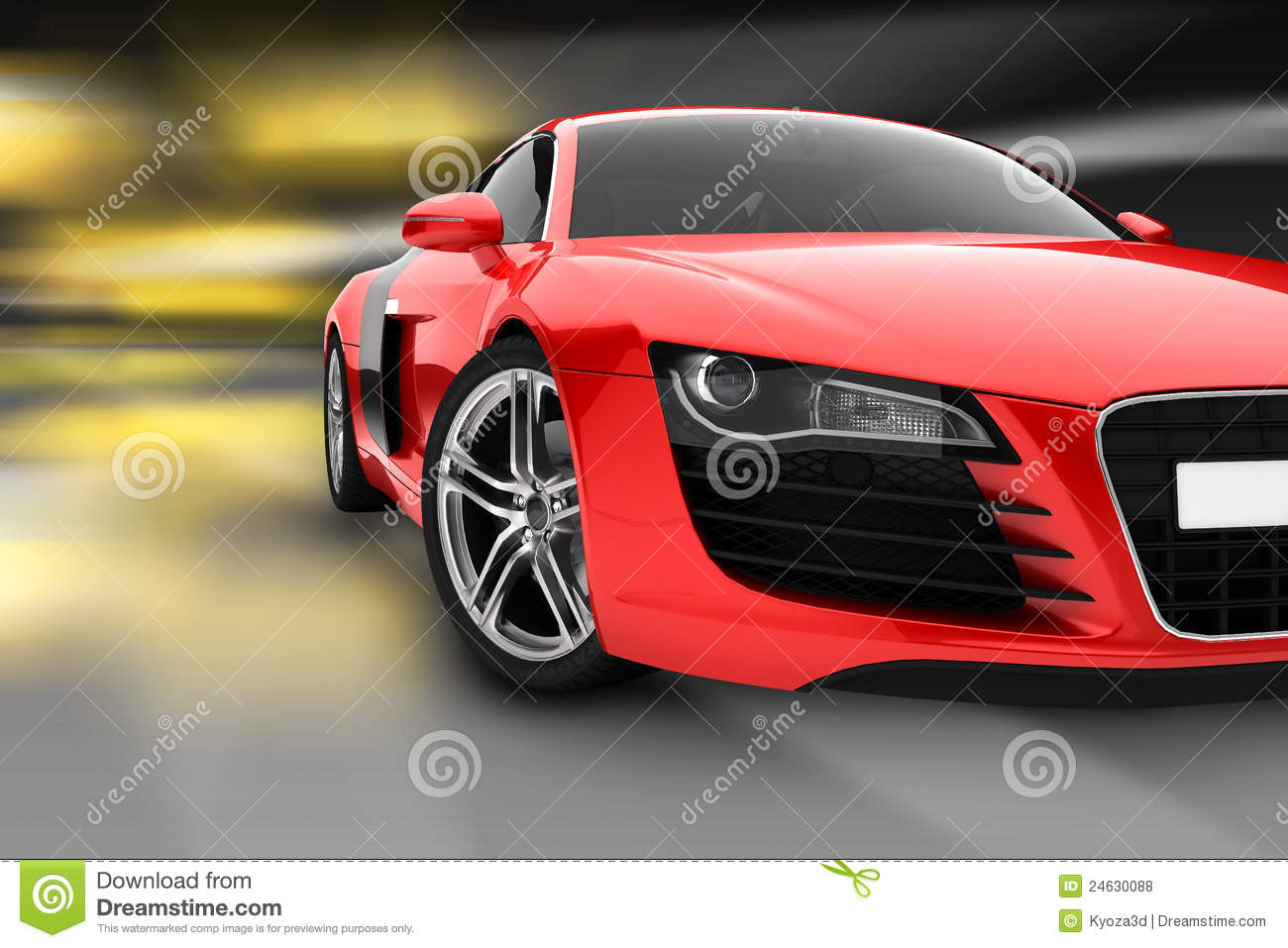 red sport car royalty free stock photos image 24630088. Black Bedroom Furniture Sets. Home Design Ideas