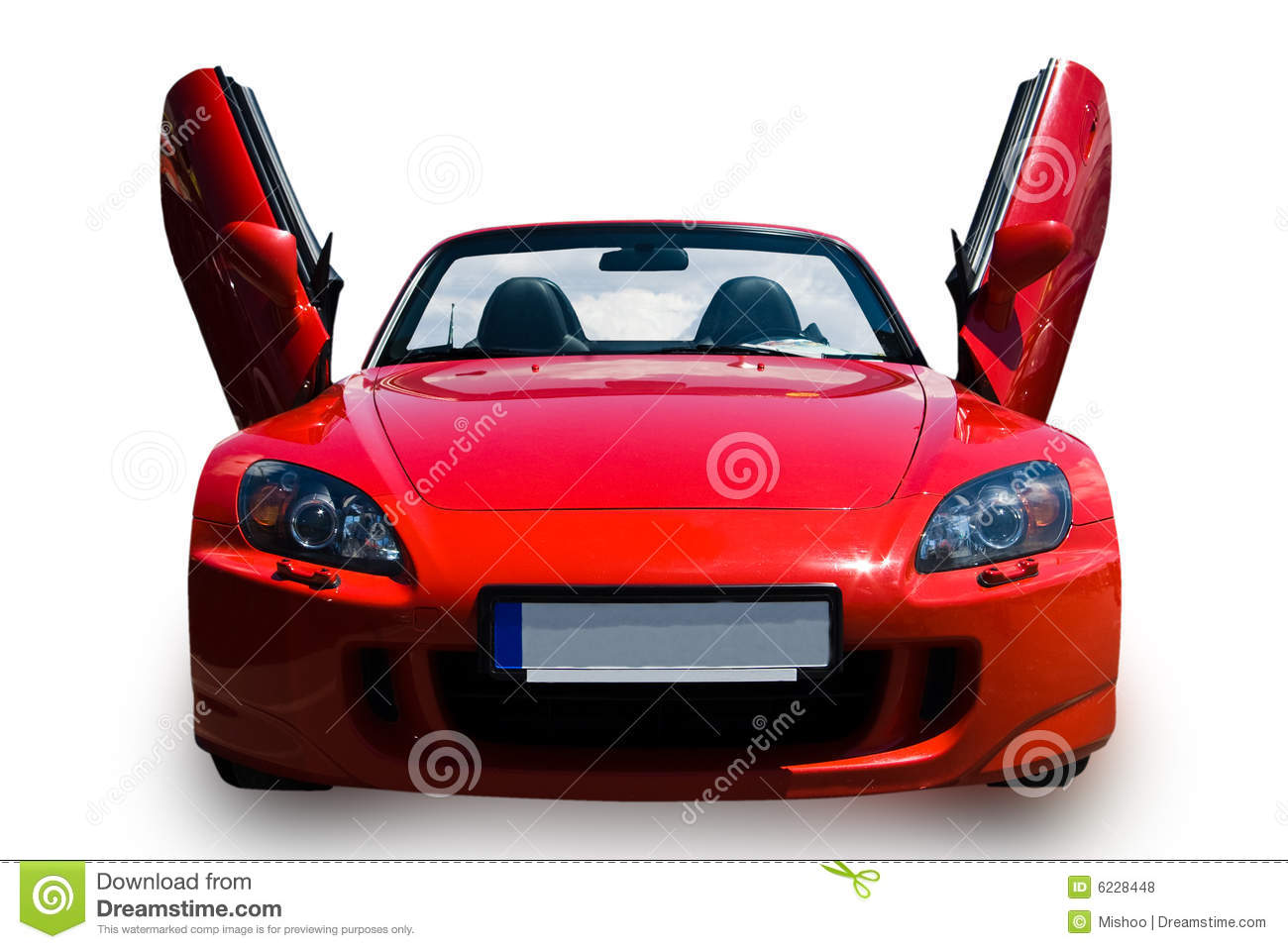 Red Sports Car Stock Photo Image Of Sport Auto Reflection - Red sports car