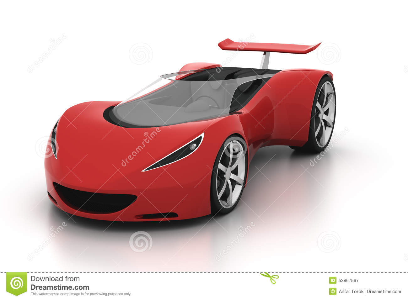 Red Sports Car Stock Photo - Image: 53867567