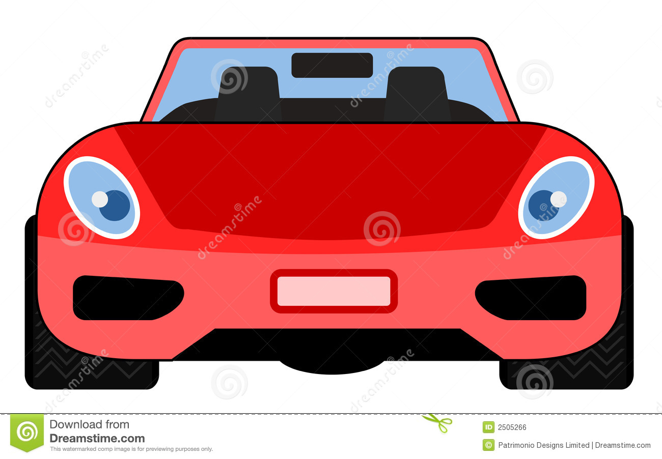 Red Sports Car Front View Stock Vector Illustration Of Racing 2505266