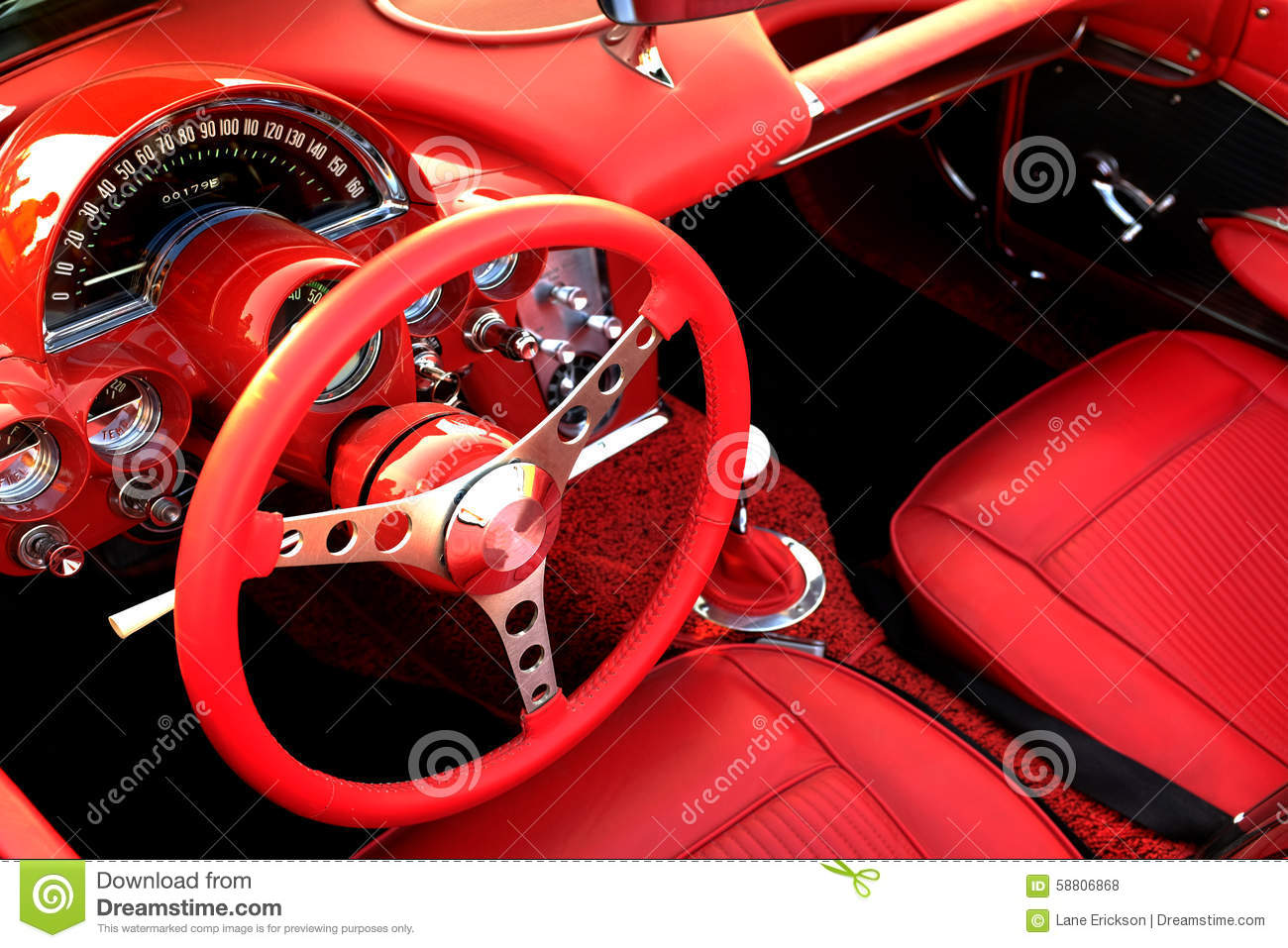 red sports car interior steering wheel stock photo image 58806868. Black Bedroom Furniture Sets. Home Design Ideas