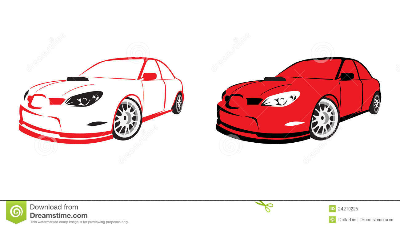 red sports car logo royalty free stock photo image 24210225. Black Bedroom Furniture Sets. Home Design Ideas
