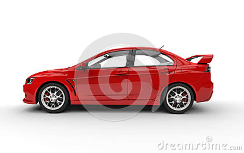 Red Sports Car on White Background