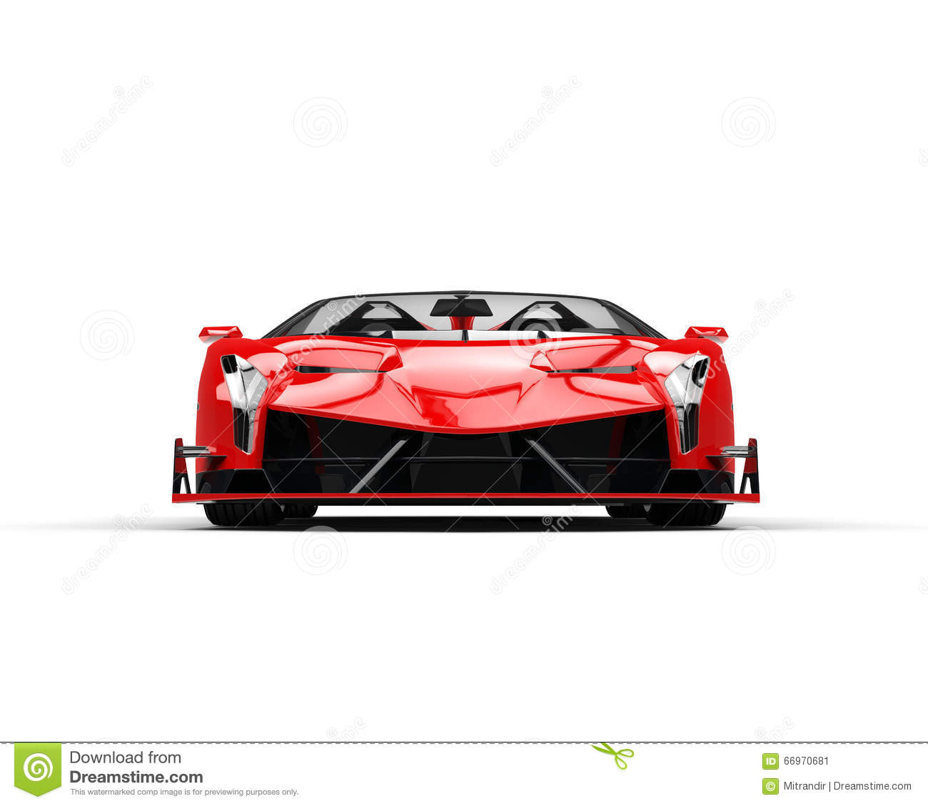Red Sports Supercar Front View Stock Illustration Image