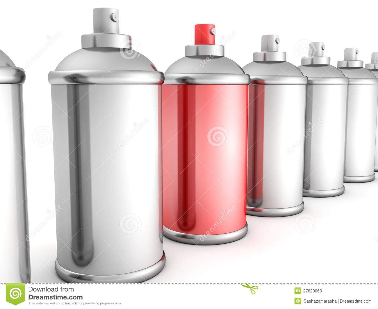Red Spray Paint Bottle Can In White Crowd Royalty Free Stock Photos Image 27620068