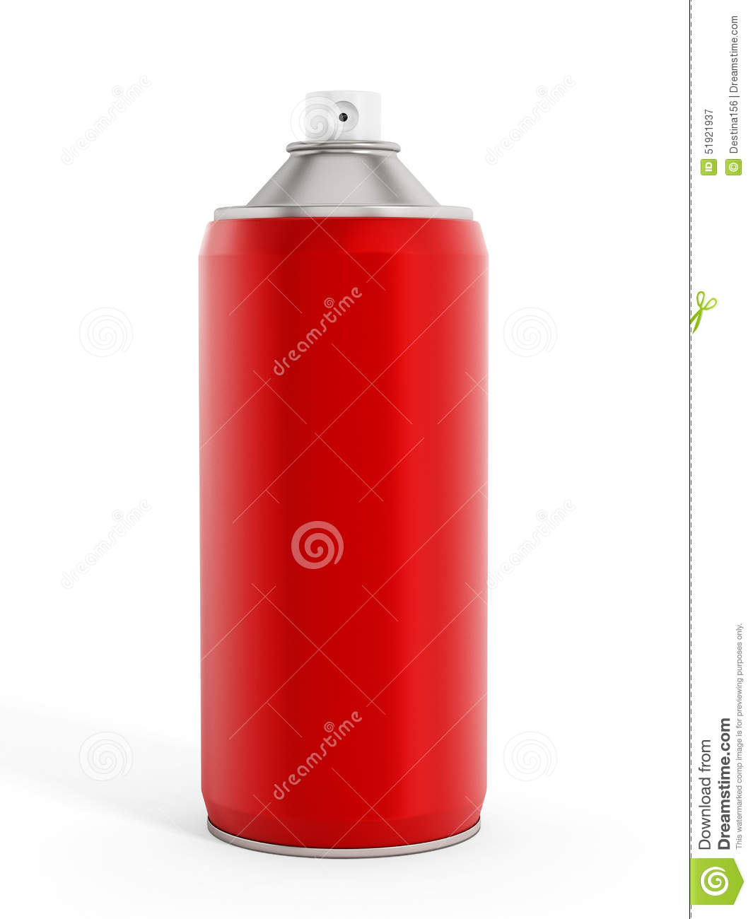 Red spray paint can stock illustration image of metallic 51921937 Paint with spray can