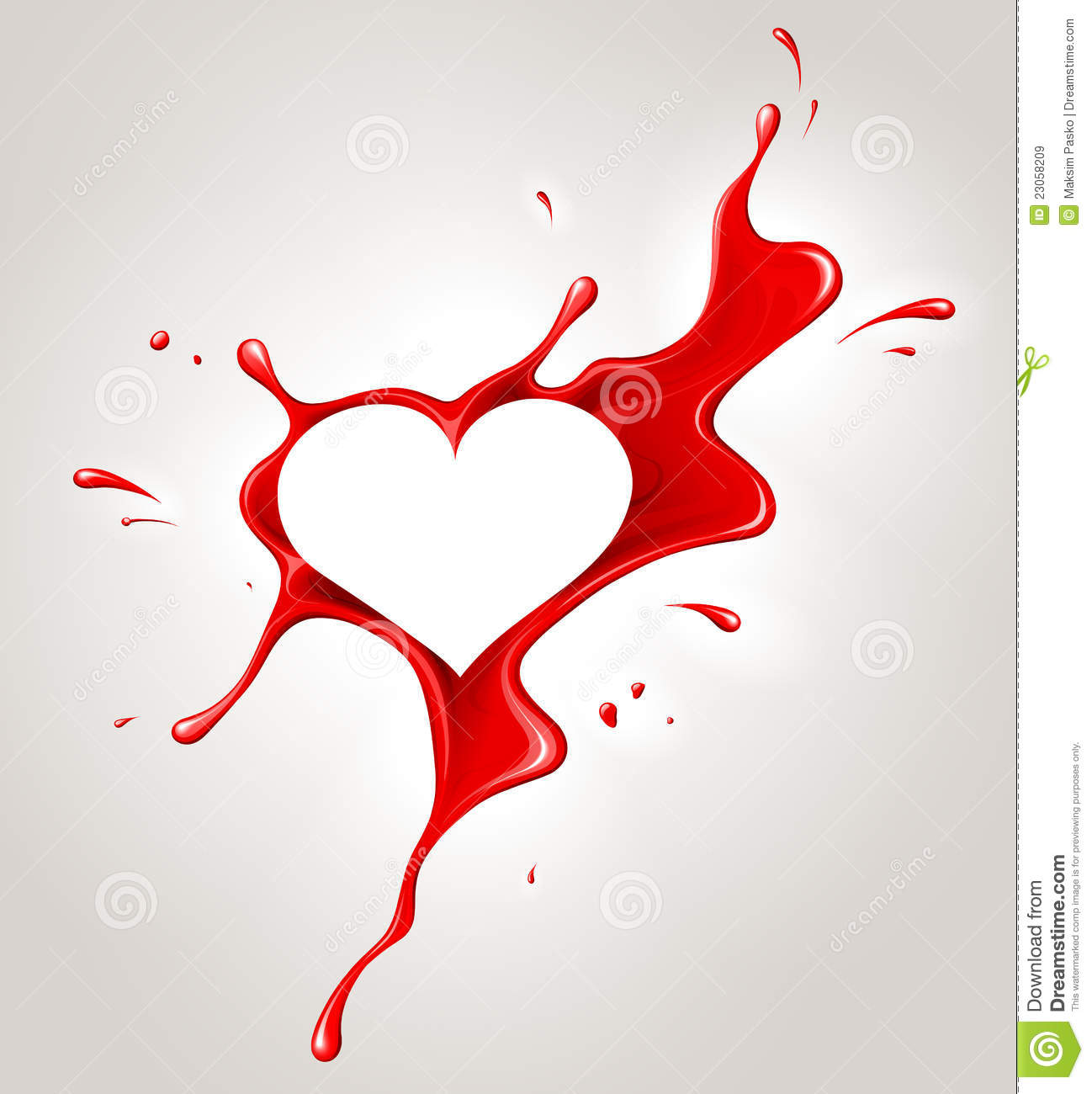 Red spray paint and heart royalty free stock images for Happy color spray paint price
