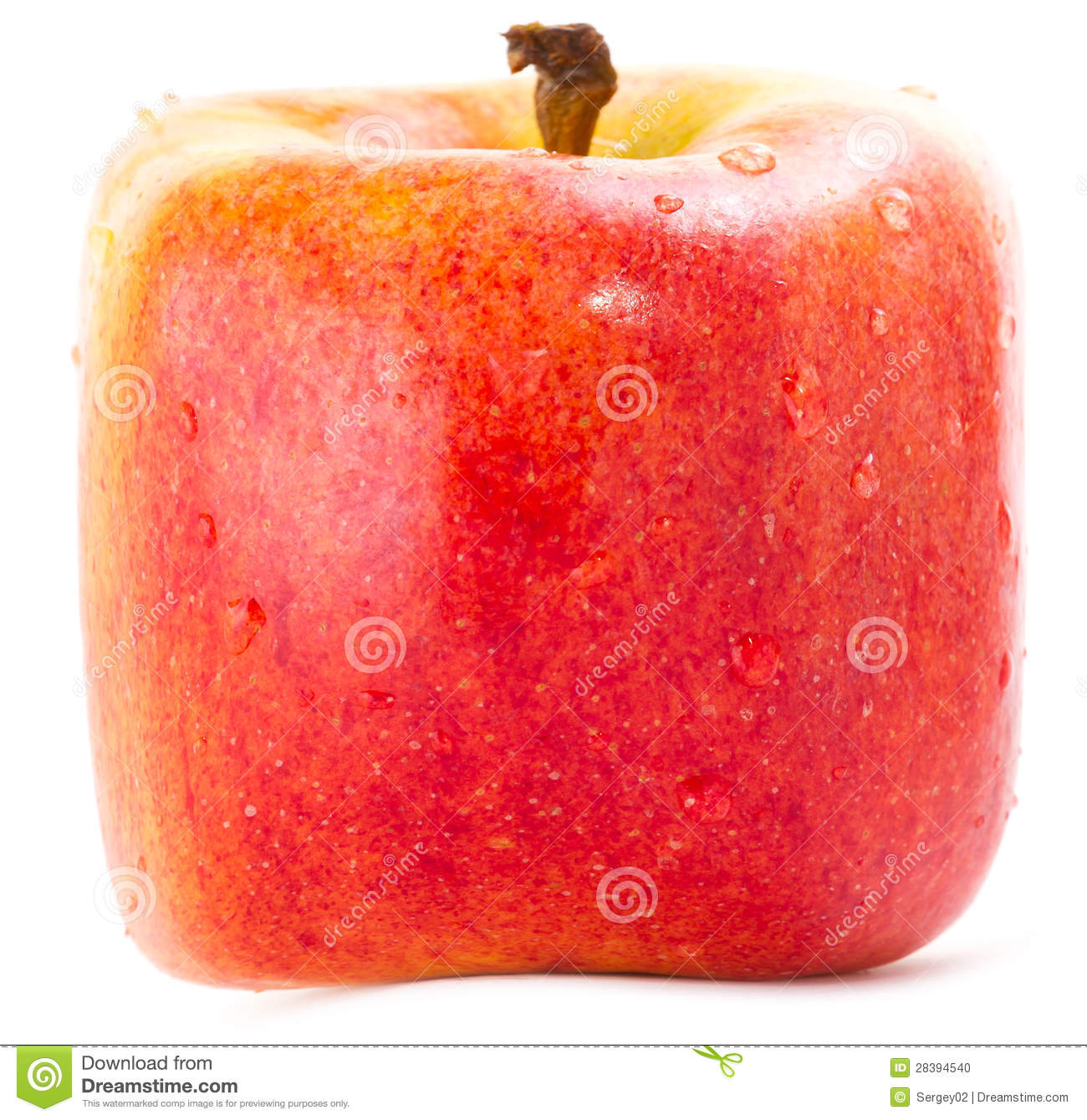 Red Square Apple Stock Photo - Image: 28394540