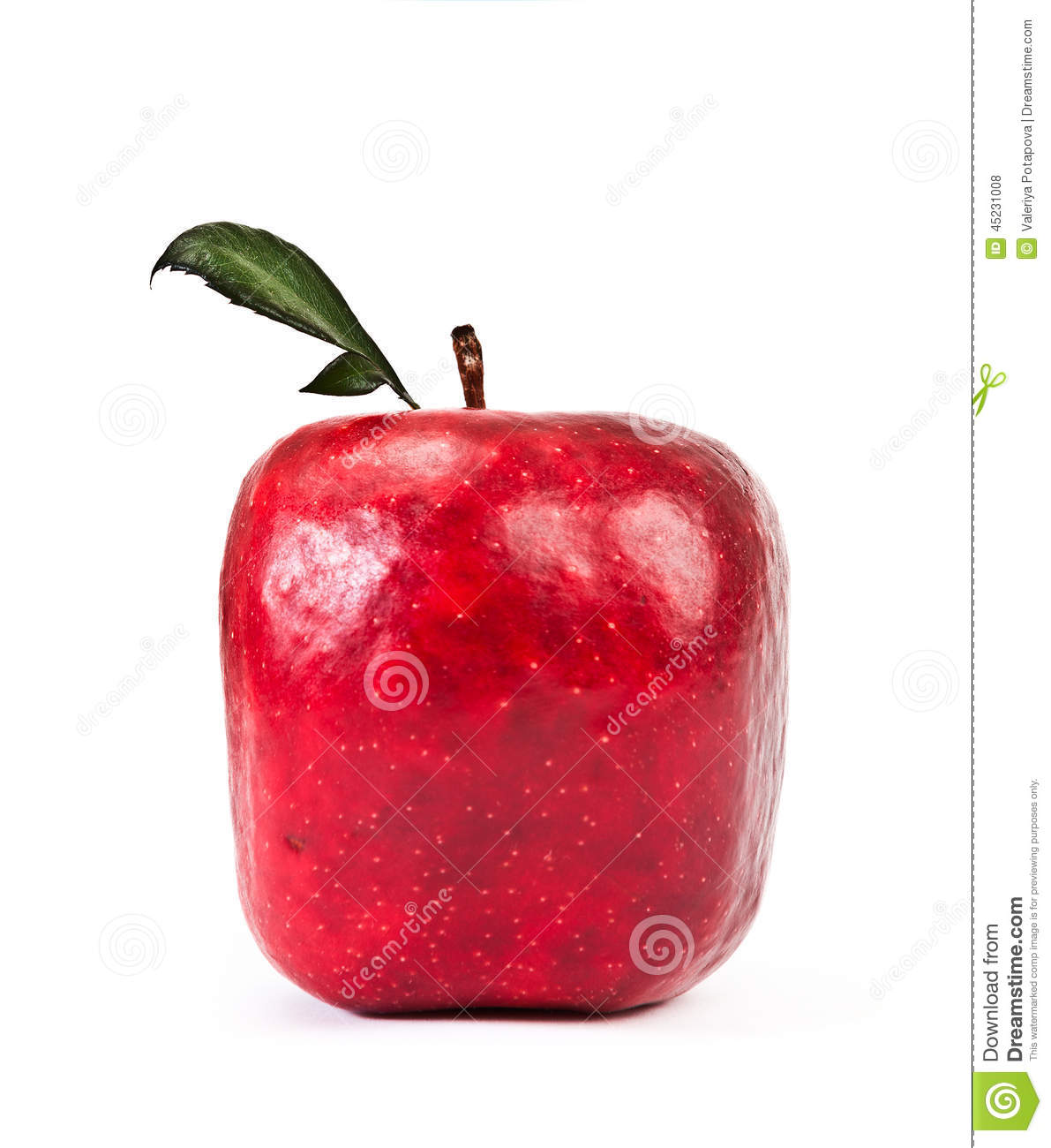Red Square apple stock photo. Image of conceptual ...