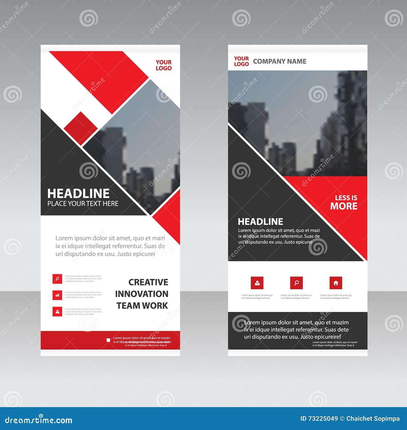 Design for roll up banner - Abstract Banner Black Business Design