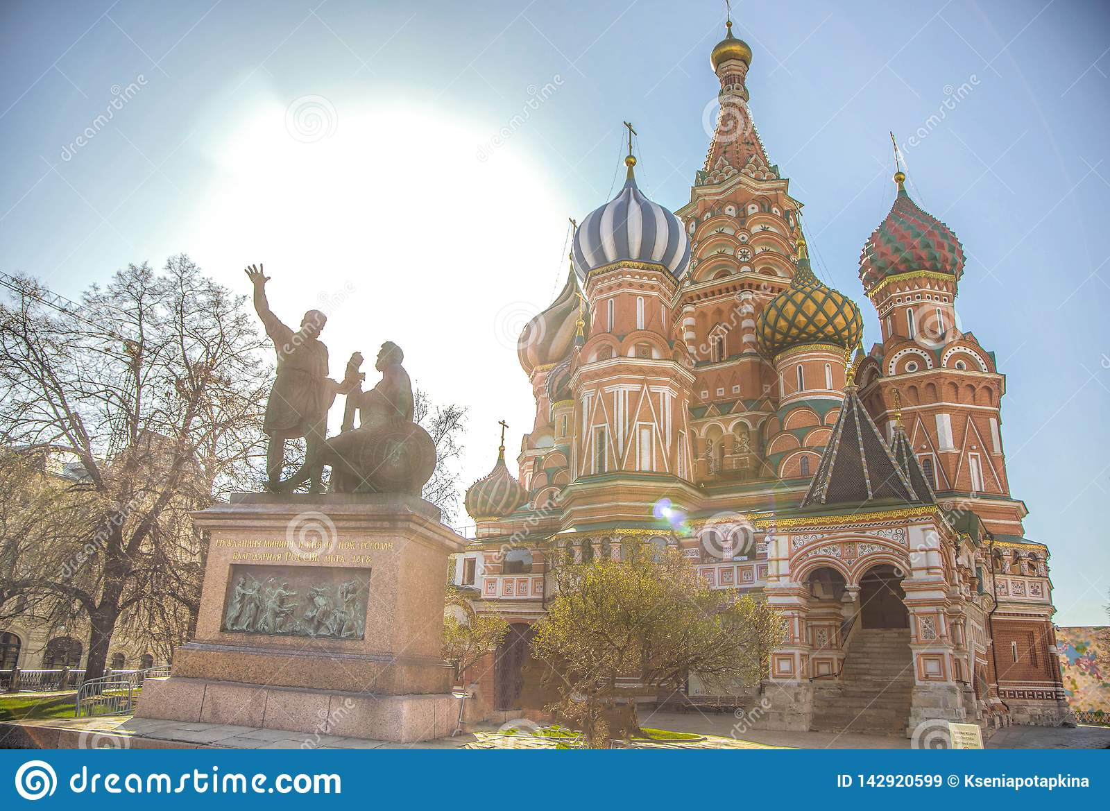 St. Basil`s Cathedral in the morning sun.