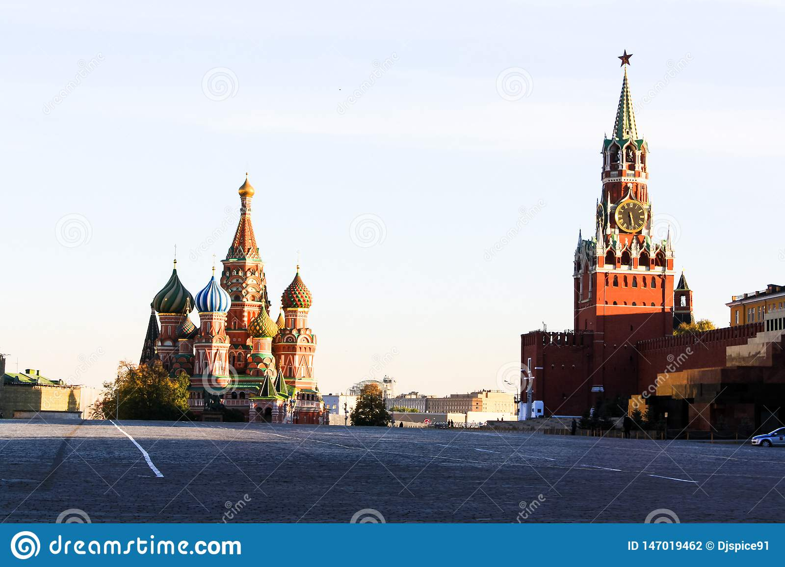 Red Square and St. Basil`s Cathedral