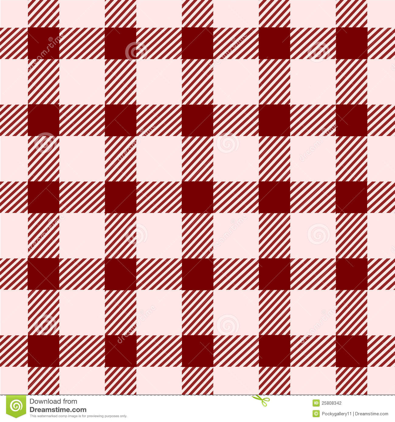 Red Square Vintage Seamless Pattern Stock Vector