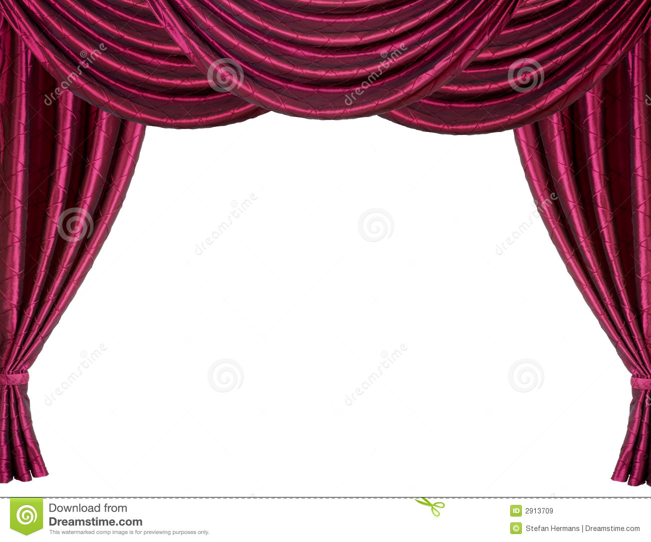 White stage curtains red stage curtain royalty free