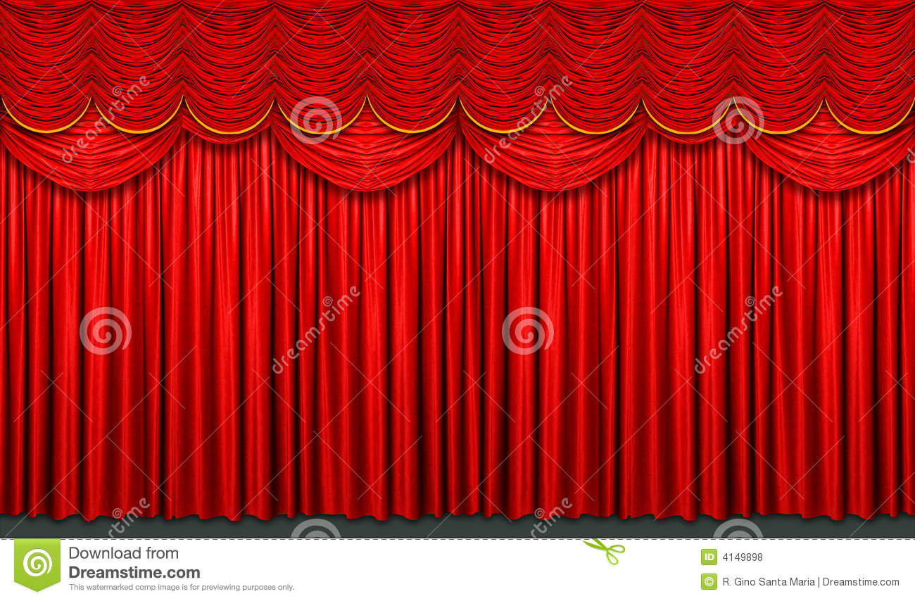 Red stage curtain royalty free stock photos image 4149898