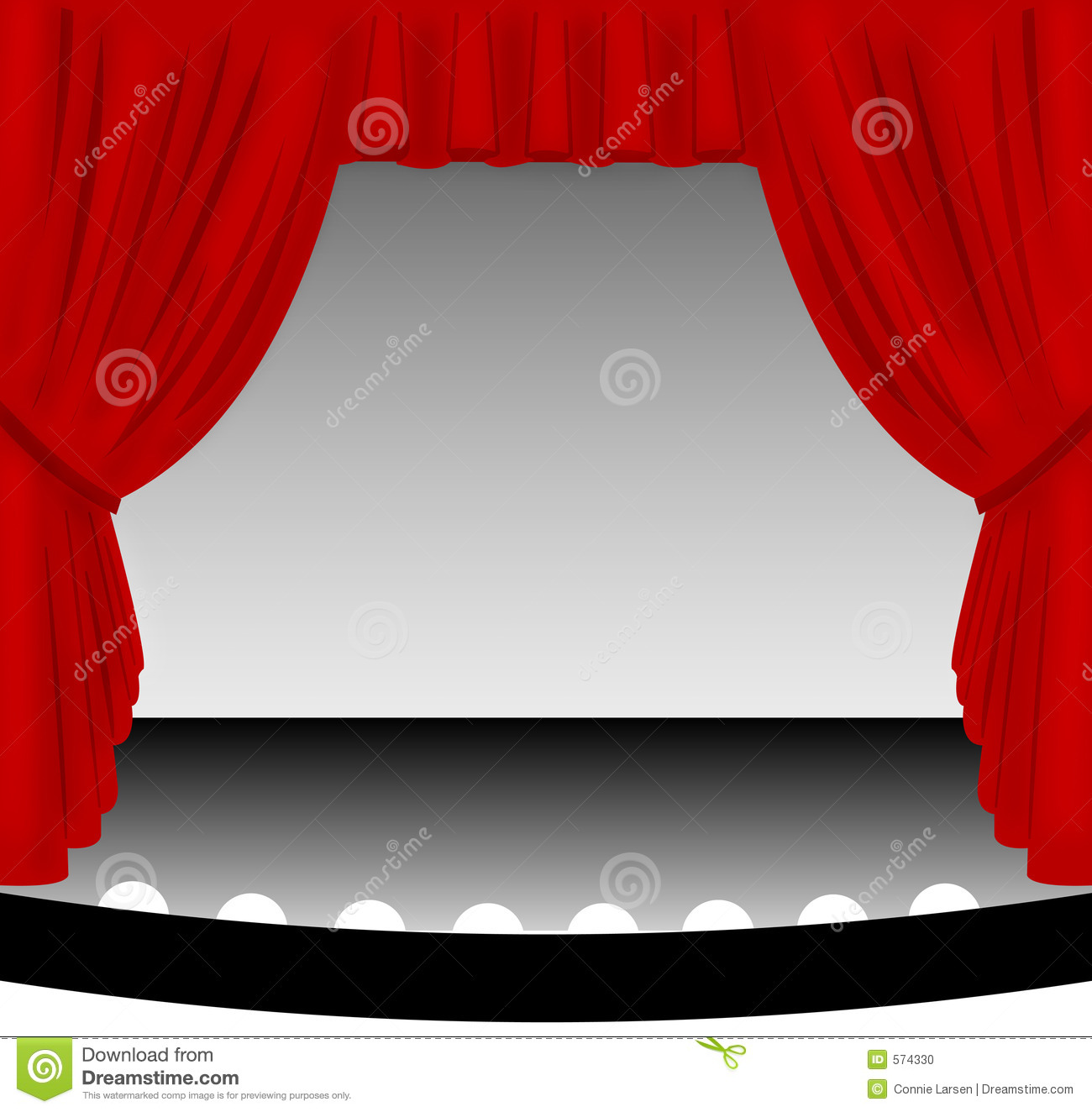 Red Stage Curtain Stock Illustration Image Of Draped