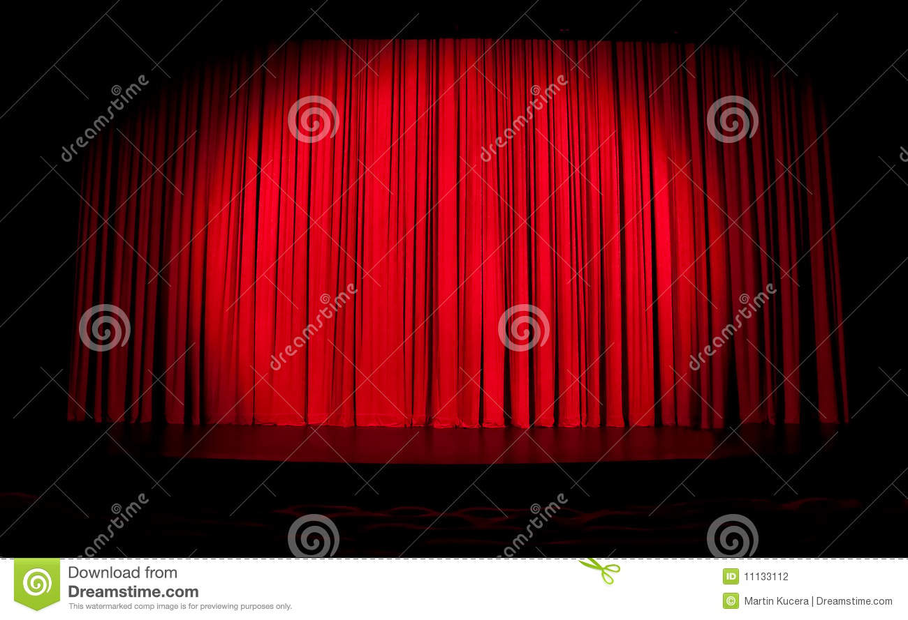 Stage curtains spotlight - Curtain Red Spotlight Stage