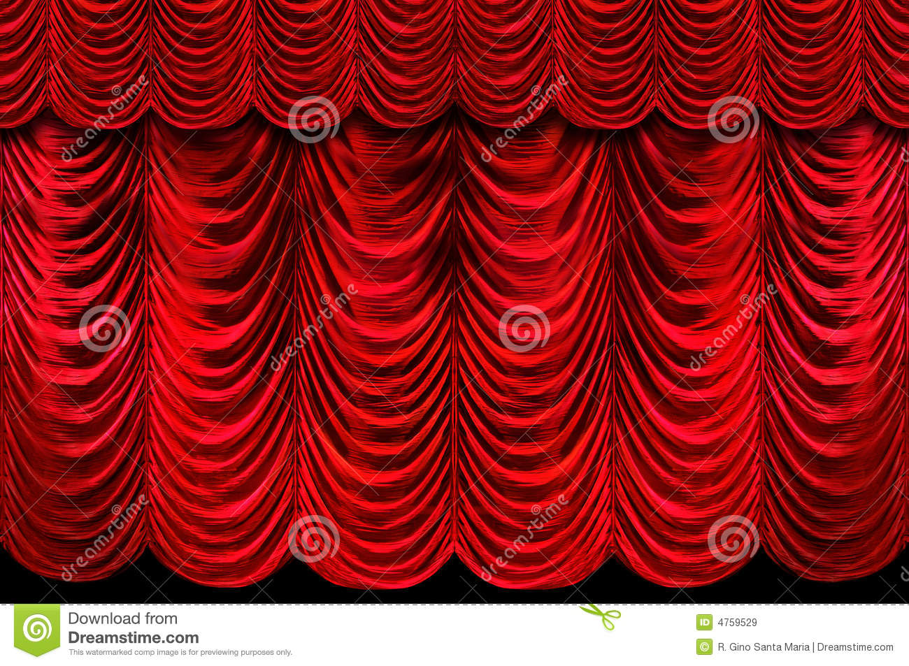 Red Stage Curtains Royalty Free Stock Images Image 4759529