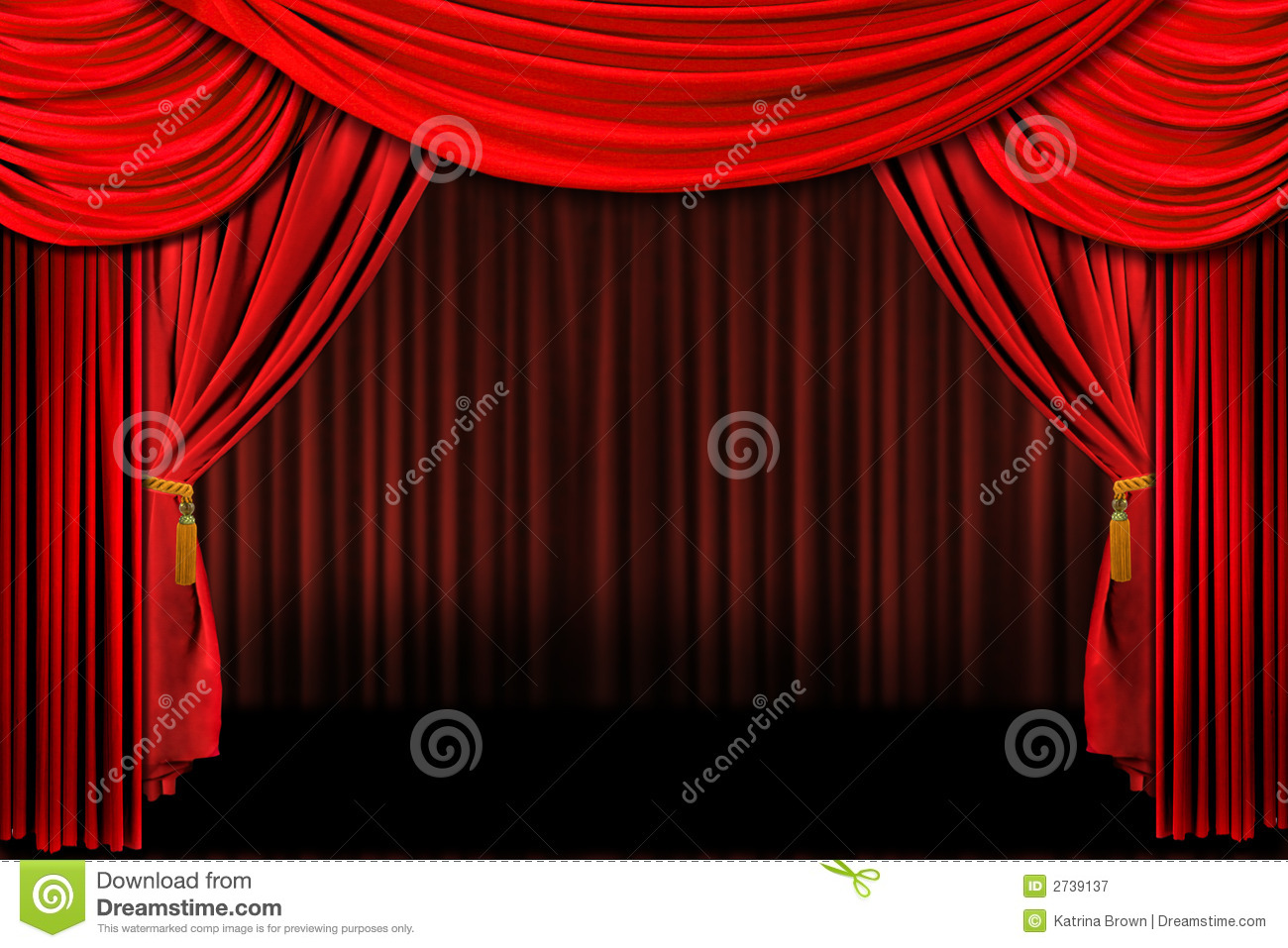 Theater Stage Clipart Red on stage theater drapes