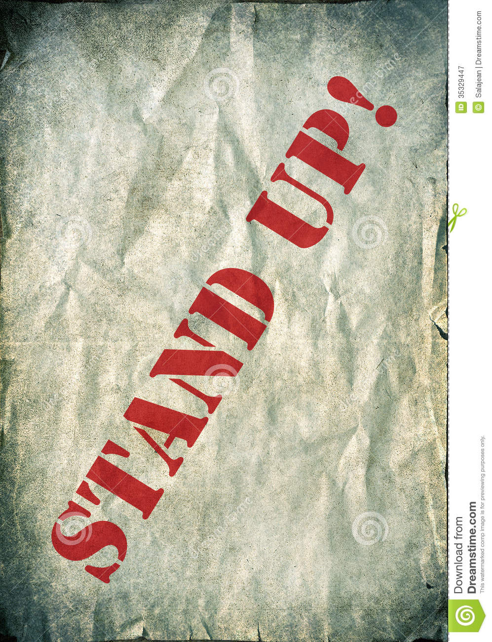 red stand up letters on a vintage background