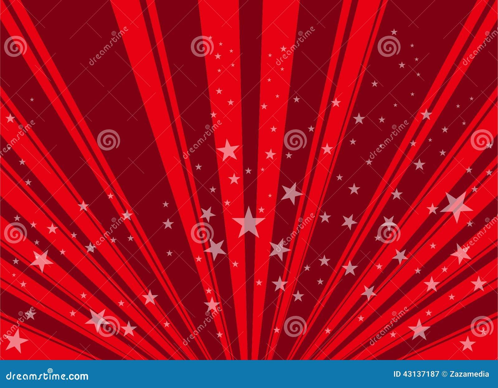 Red Star Background Stock Illustration - Image: 43137187