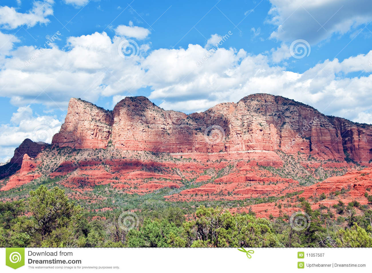 Red stone landscape of sedona in arizona royalty free for Red stone landscape rock